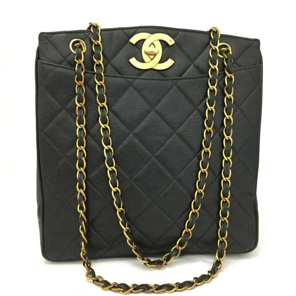aabecf25bc062b CHANEL Bags | 100 Auth Quilted Matelasse Caviar Skin | Poshmark